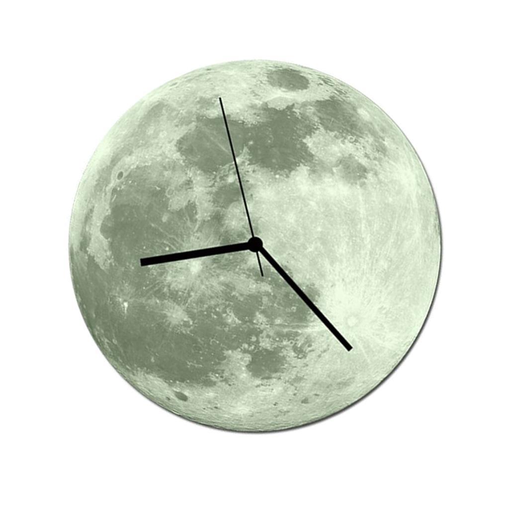 Indoor-Decorative-Wall-Clock-12inch-Luminous-Moon-Battery-Operated-Silent thumbnail 41