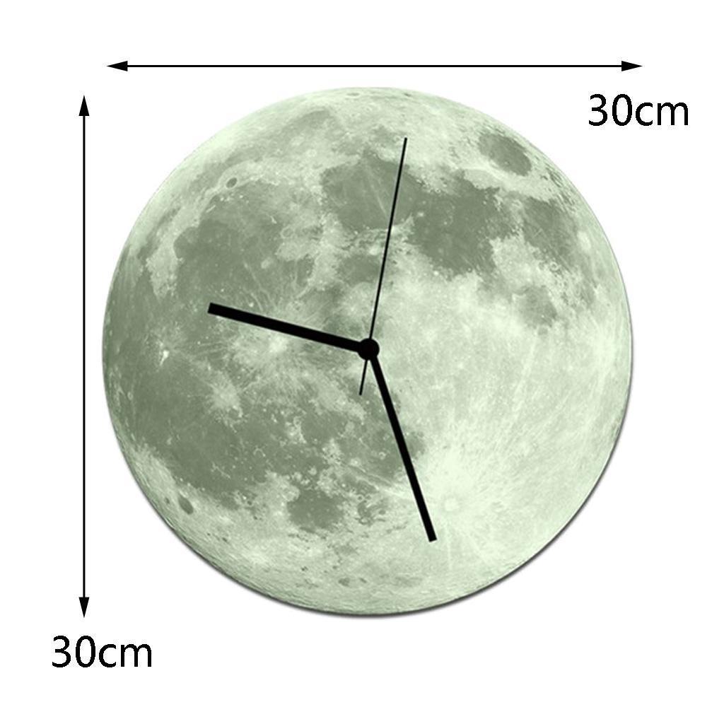 Indoor-Decorative-Wall-Clock-12inch-Luminous-Moon-Battery-Operated-Silent thumbnail 44