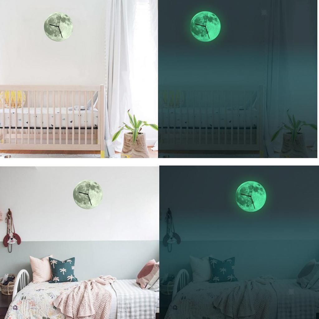 Indoor-Decorative-Wall-Clock-12inch-Luminous-Moon-Battery-Operated-Silent thumbnail 38