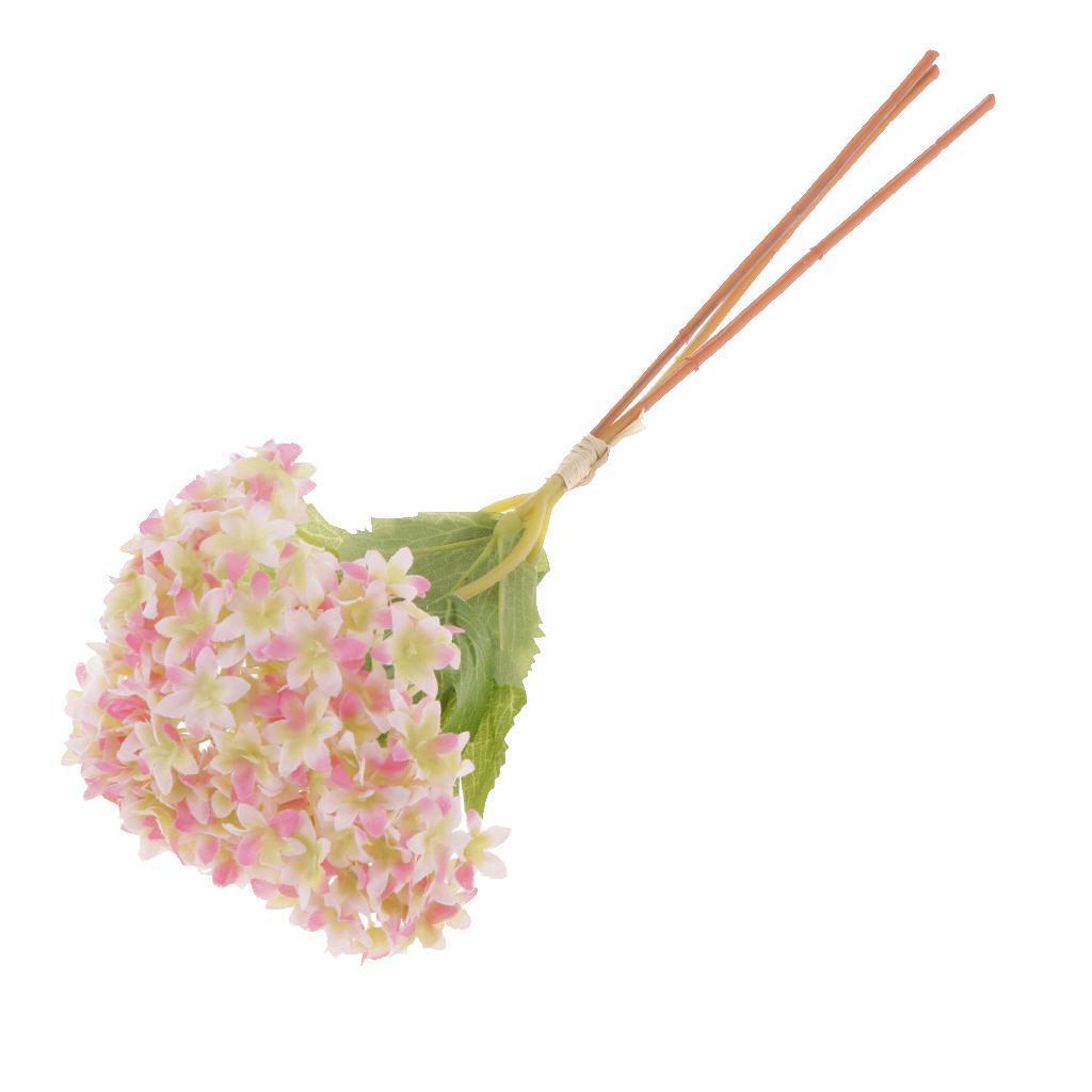 Mini-Bouquet-Artificiel-Faux-Soie-Hortensia-Fleurs-Mariage-Anniversaire miniature 9