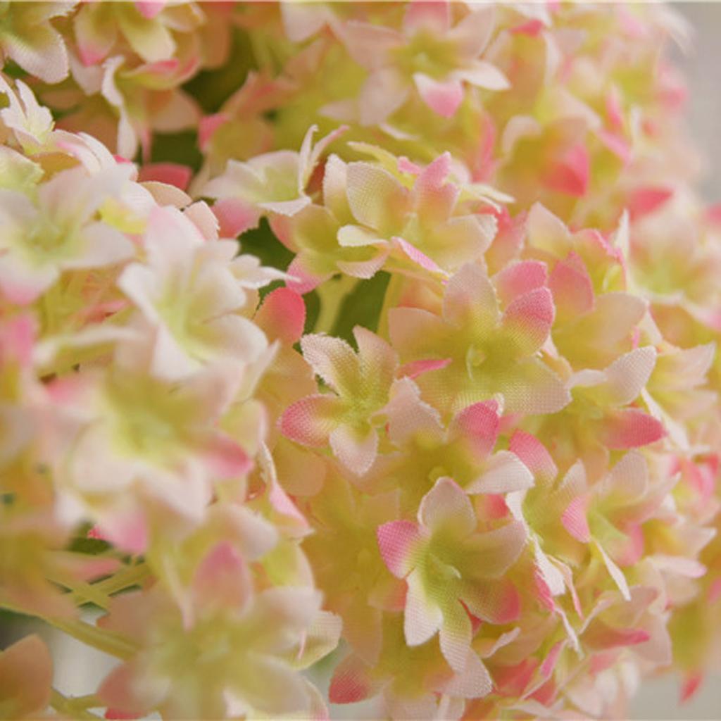 Mini-Bouquet-Artificiel-Faux-Soie-Hortensia-Fleurs-Mariage-Anniversaire miniature 7