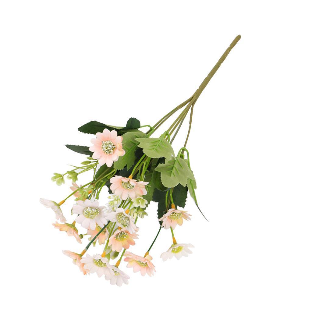 Rami Di Pesco Finti dettagli su fiori finti artificiali - tessuto in plastica milano crisantemo  margherita -