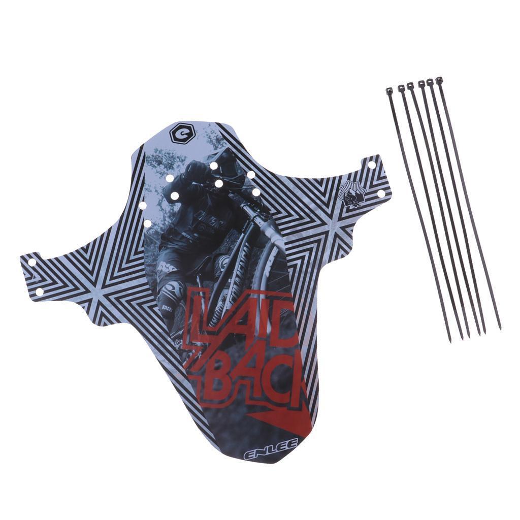 Parafanghi-MTB-per-Mountain-Bike-Parafango-anteriore-con-cinturino miniatura 32