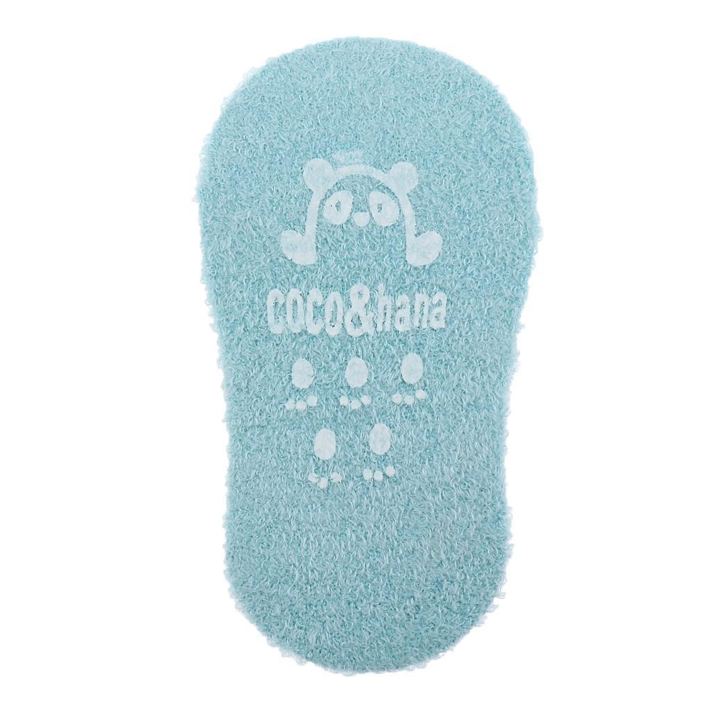 Chaussons-Bebe-Chaussettes-Bateaux-Antiderapant-Cartoon-Chaud-Pompon-Coton-Doux miniature 46