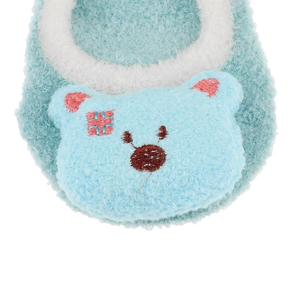 Chaussons-Bebe-Chaussettes-Bateaux-Antiderapant-Cartoon-Chaud-Pompon-Coton-Doux miniature 48