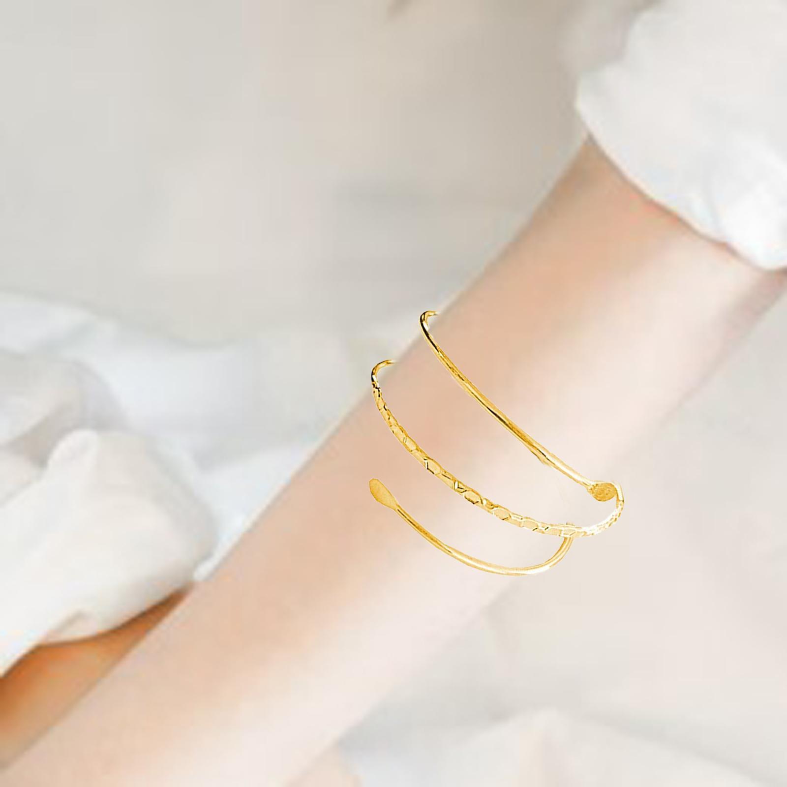 Wrap Spiral Arm Cuff Bracelet Fashion Necklace for Women Men Gifts