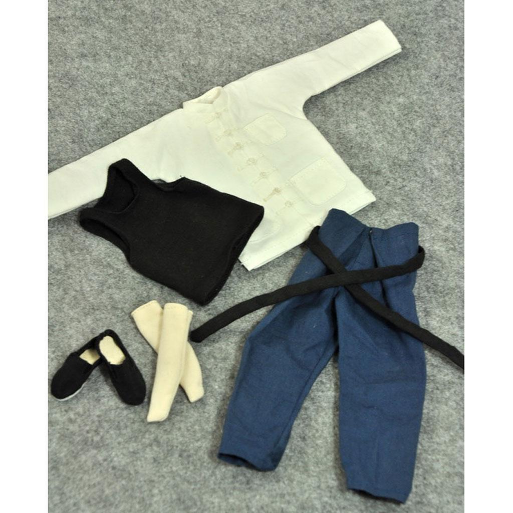 1-6-Clothes-Kung-Fu-Set-for-12-039-039-Enterbay-Bruce-Lee-Jet-Li-Donnie-Yen-Figure miniature 7