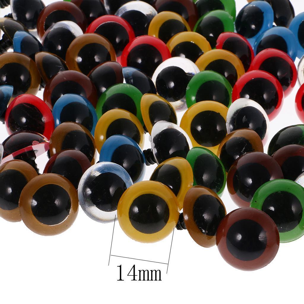 Yeux-de-Securite-Plastique-Plastique-Pour-DIY-Fabrication-Poupee-8-20mm-100Pcs miniature 36