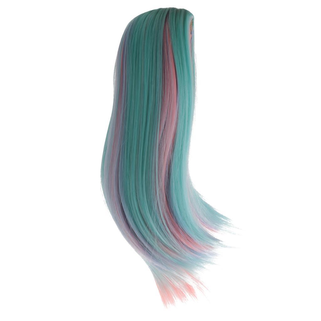 Straight-Gradient-Curly-Hair-Wig-for-18-039-039-Doll-Dress-up-Accessory thumbnail 54