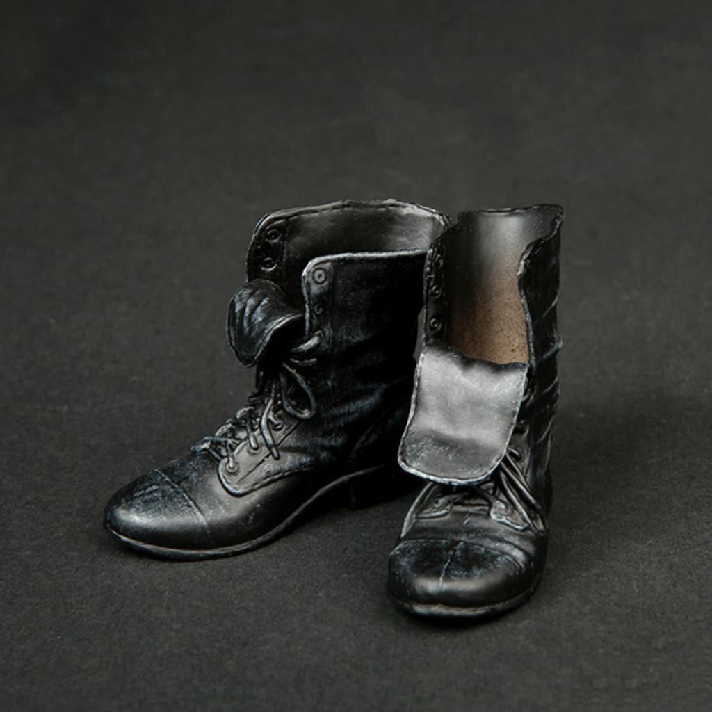 1-6-Scale-Rubber-Made-Leather-Boots-For-12-034-Male-Hottoys-Shideshow-Action-Figure thumbnail 7