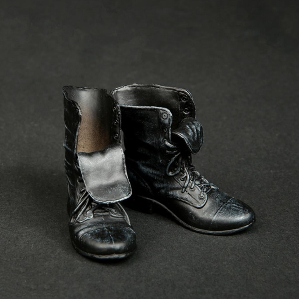 1-6-Scale-Rubber-Made-Leather-Boots-For-12-034-Male-Hottoys-Shideshow-Action-Figure thumbnail 8