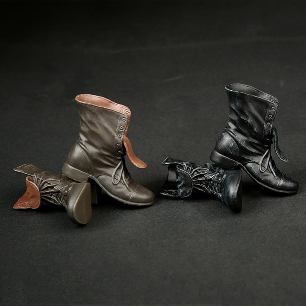 1-6-Scale-Rubber-Made-Leather-Boots-For-12-034-Male-Hottoys-Shideshow-Action-Figure thumbnail 9