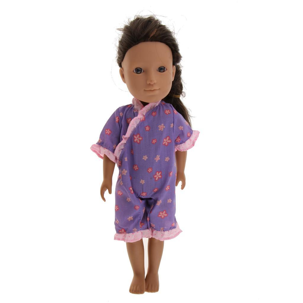For-14-inch-Wellie-Wishers-American-Doll-Dolls-Clothing-T-shirt-Miniskirt-Romper thumbnail 6