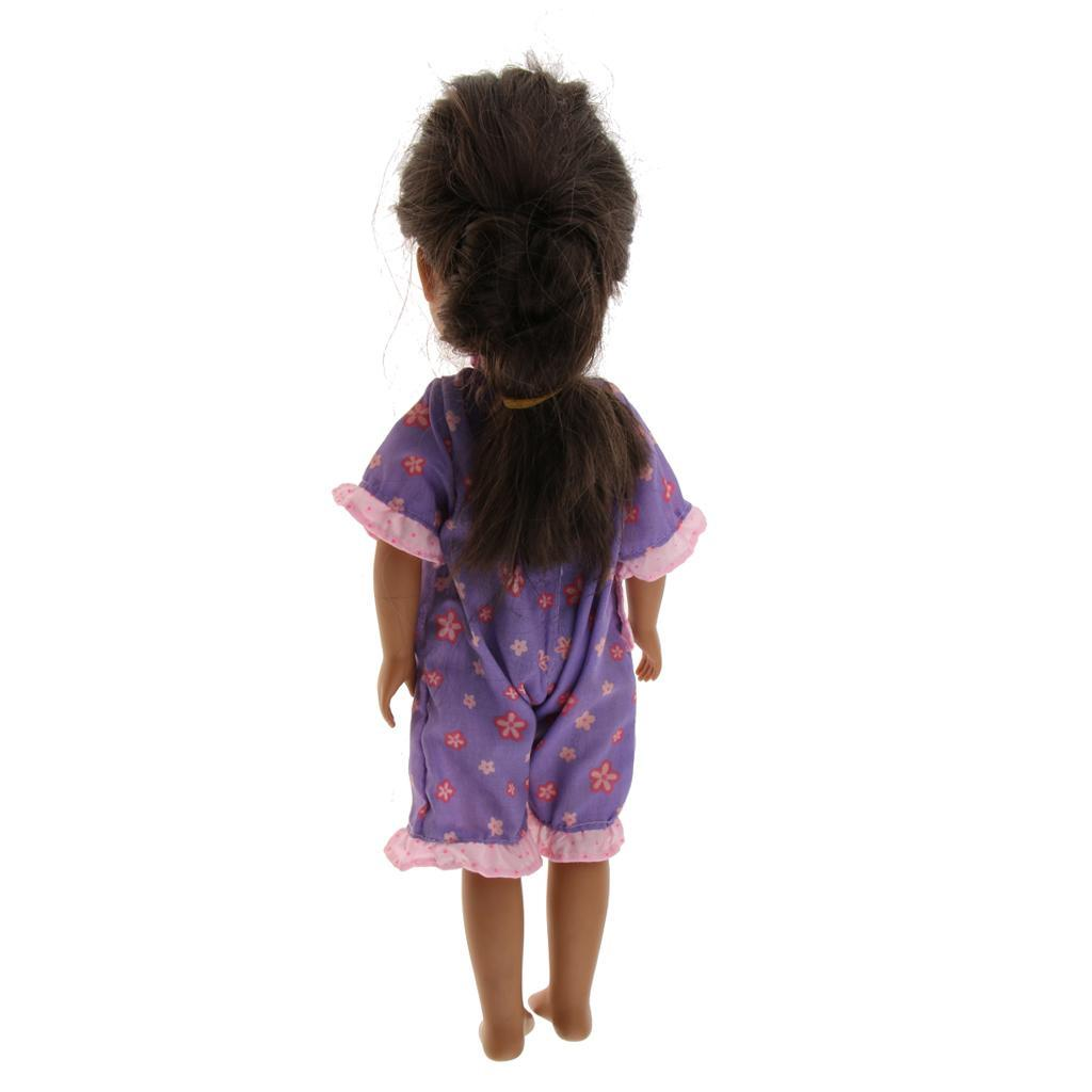 For-14-inch-Wellie-Wishers-American-Doll-Dolls-Clothing-T-shirt-Miniskirt-Romper thumbnail 7