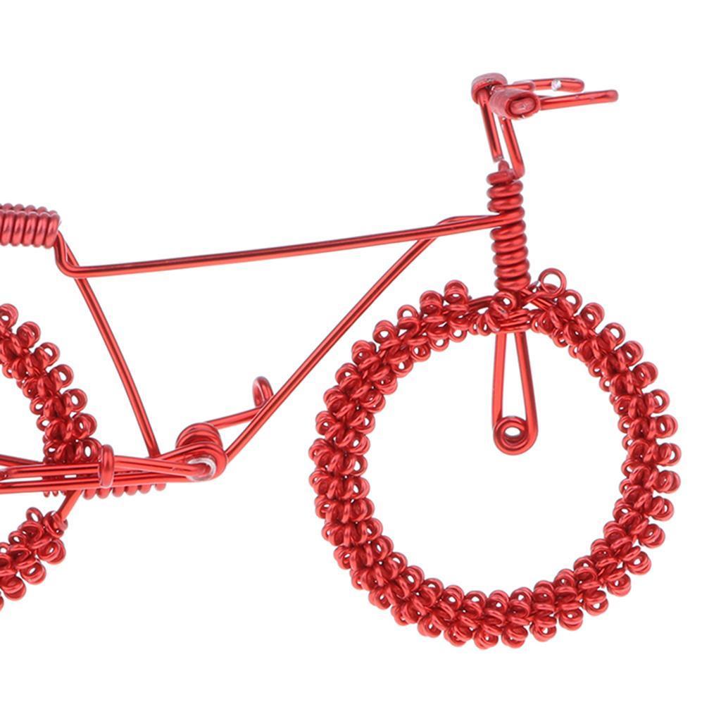 Giocattolo-Annata-Diecast-Bicicletta-Ornamento-Scrivania-Decorazione-Casa miniatura 7