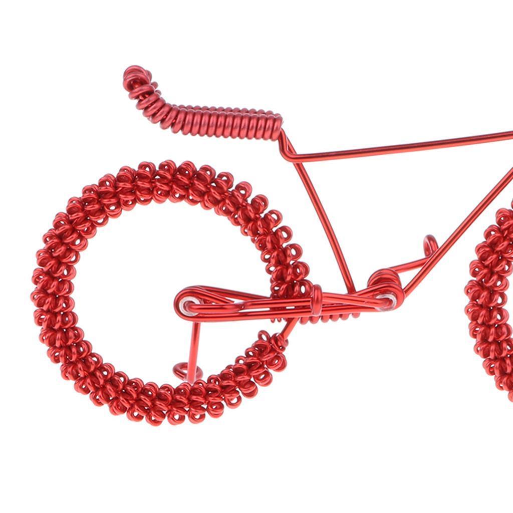 Giocattolo-Annata-Diecast-Bicicletta-Ornamento-Scrivania-Decorazione-Casa miniatura 8