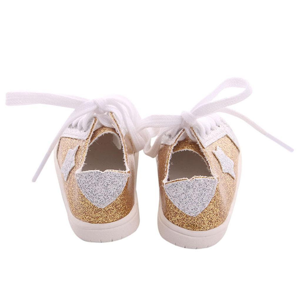 18inch-Girl-Doll-Fairy-Leisure-Shoes-for-American-Doll-Xmas-Gift-Accessories miniature 13