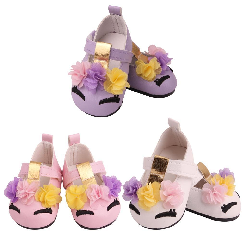 Charming-Floral-Summer-Shoes-Sandal-for-18inch-American-Doll-Dress-Up-Accs miniature 9