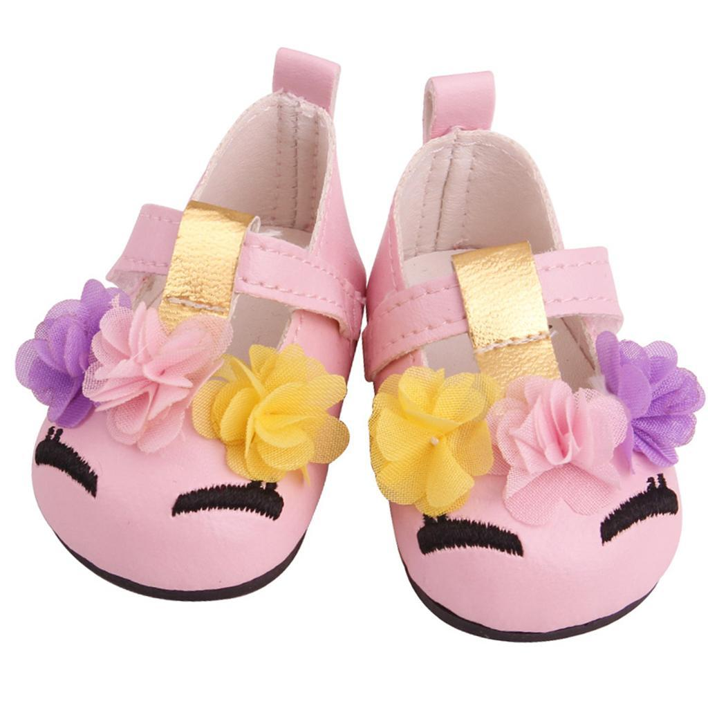 Charming-Floral-Summer-Shoes-Sandal-for-18inch-American-Doll-Dress-Up-Accs miniature 8