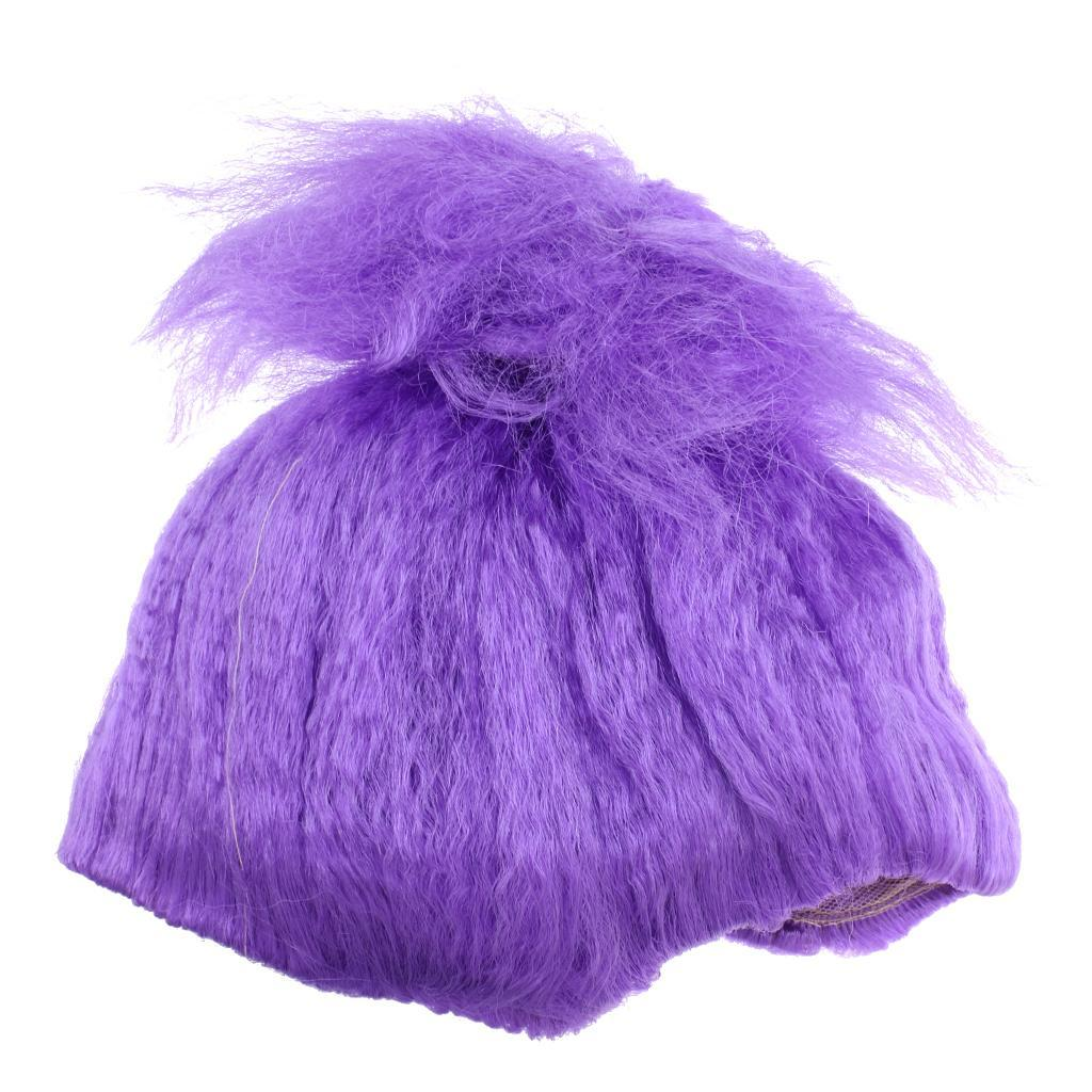 Cute-Flame-Troll-Short-Wig-Cosplay-Party-Costume-Fancy-Dress-Magic-Pixie-Elf-Wig thumbnail 6