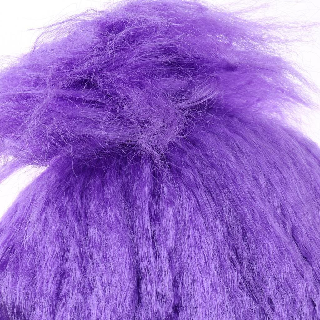 Cute-Flame-Troll-Short-Wig-Cosplay-Party-Costume-Fancy-Dress-Magic-Pixie-Elf-Wig thumbnail 4