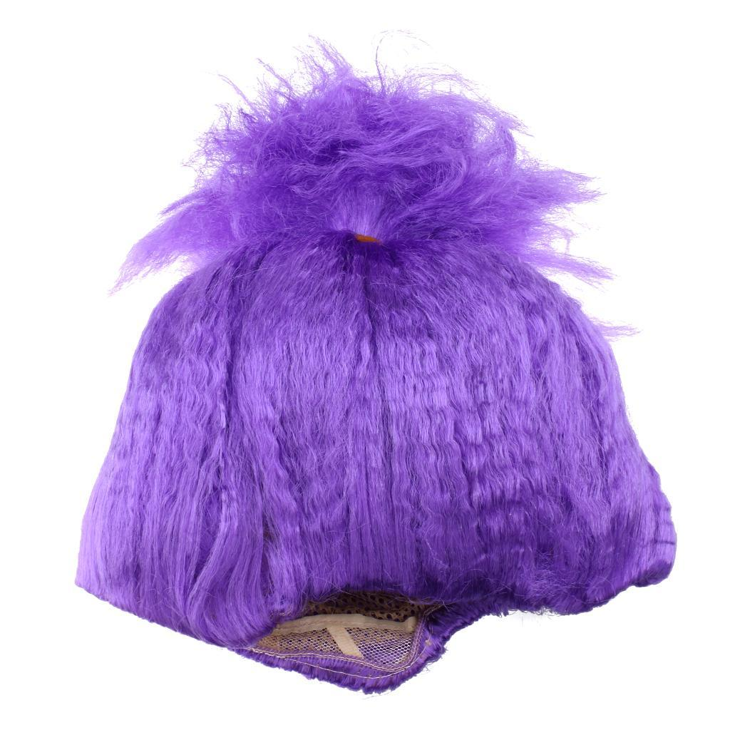Cute-Flame-Troll-Short-Wig-Cosplay-Party-Costume-Fancy-Dress-Magic-Pixie-Elf-Wig thumbnail 3