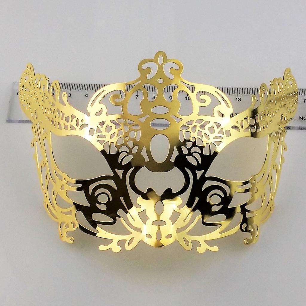 Venetian-Gold-Filigree-Eye-Mask-Masquerade-Ball-Fancy-Dress-for-Man-Women miniature 17