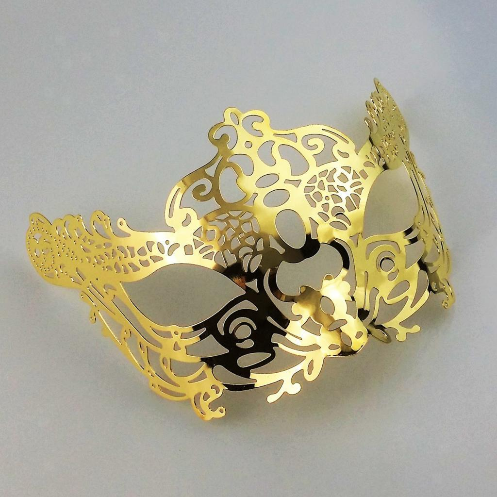 Venetian-Gold-Filigree-Eye-Mask-Masquerade-Ball-Fancy-Dress-for-Man-Women miniature 16
