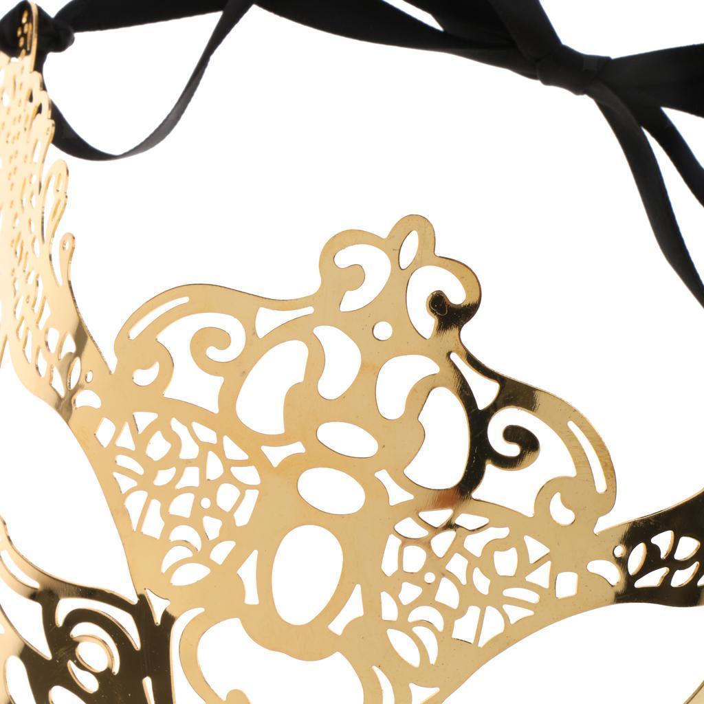 Venetian-Gold-Filigree-Eye-Mask-Masquerade-Ball-Fancy-Dress-for-Man-Women miniature 20