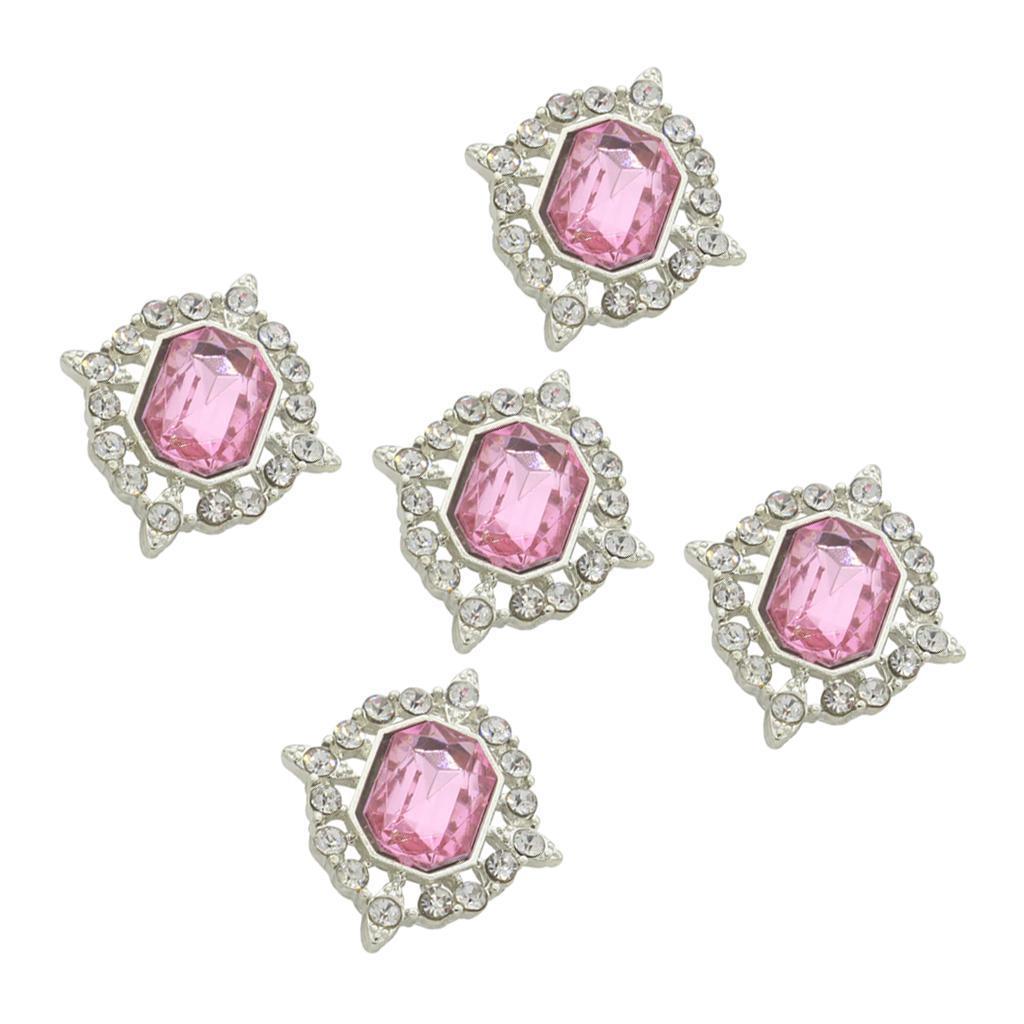 5-Pieces-Acrylique-plat-soutenu-Strass-Cabochons-Bijoux-Decoration miniature 23