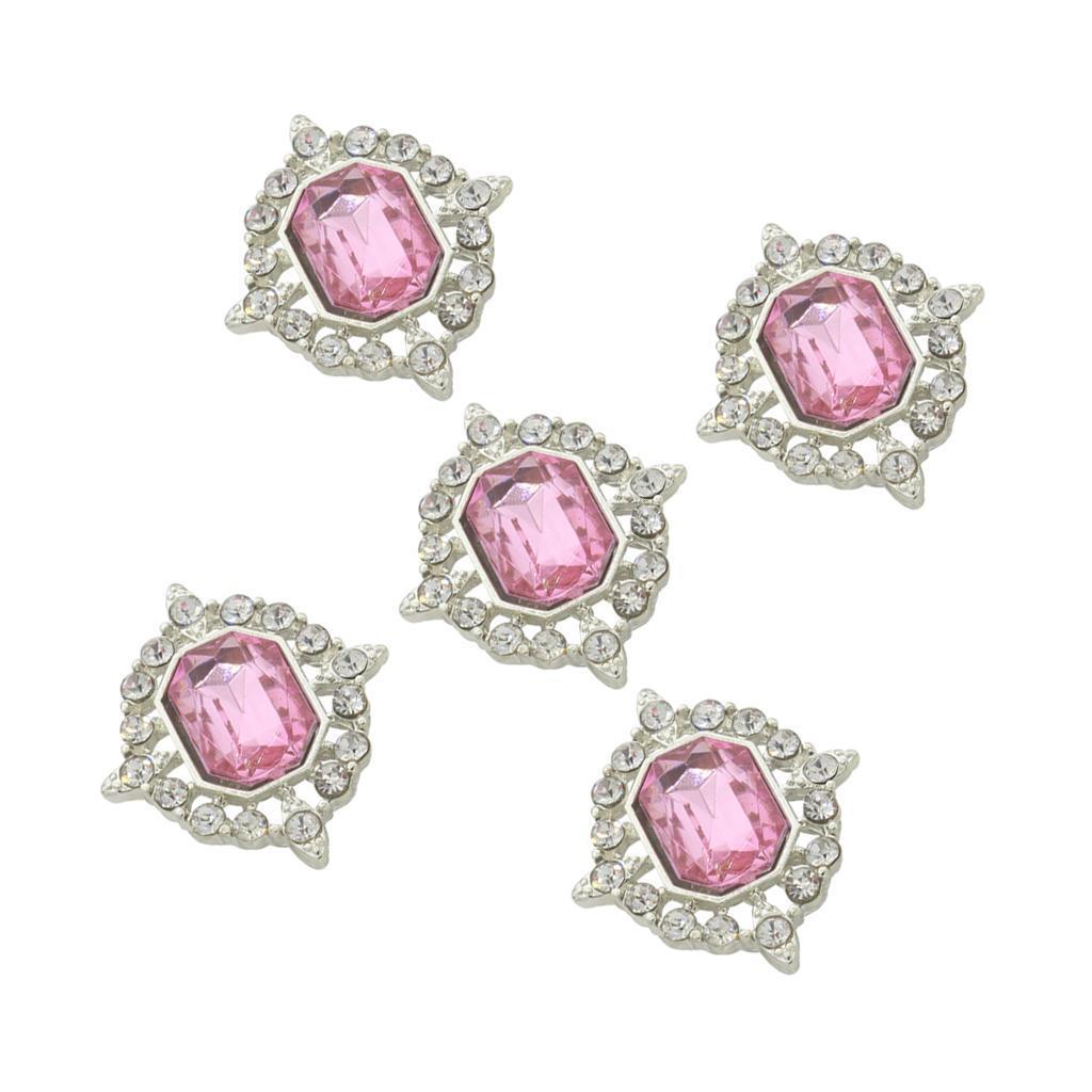 5-Pieces-Acrylique-plat-soutenu-Strass-Cabochons-Bijoux-Decoration miniature 24