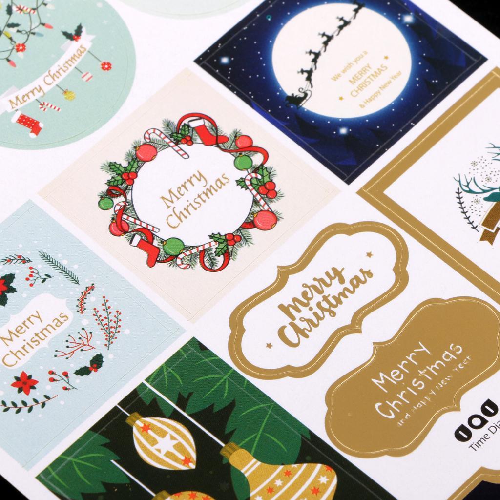 12pcs-adesivo-autoadesivo-che-timbra-oro-Patches-Applique-Natale miniatura 13