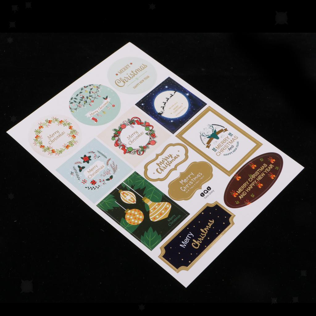 12pcs-adesivo-autoadesivo-che-timbra-oro-Patches-Applique-Natale miniatura 14