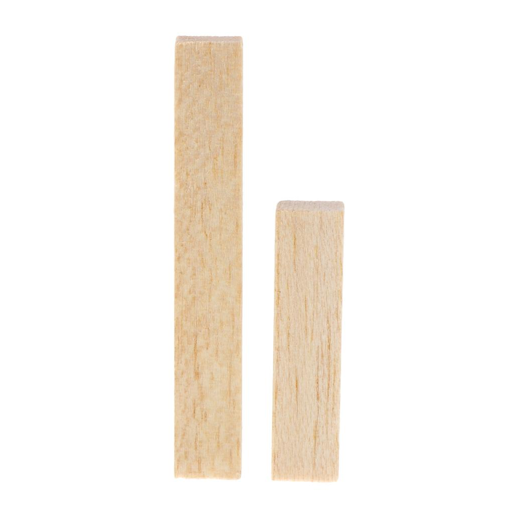 10Pcs Balsa Wood Round Sticks Unfinished for Woodworking Crafts Supply 100mm