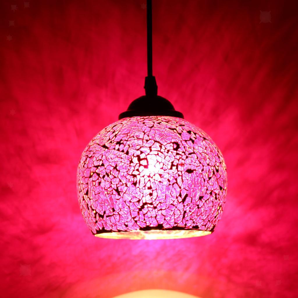 Mosaic-Style-Hanging-Light-Ceiling-Pendant-Lamp-Retro-Lampshade-Cafe-Restaurant thumbnail 45