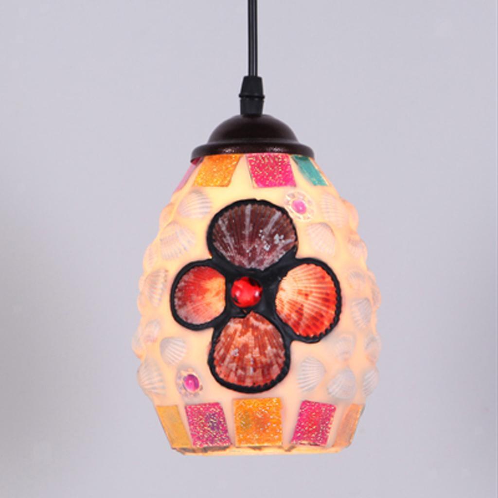 Mosaic-Style-Hanging-Light-Ceiling-Pendant-Lamp-Retro-Lampshade-Cafe-Restaurant thumbnail 82
