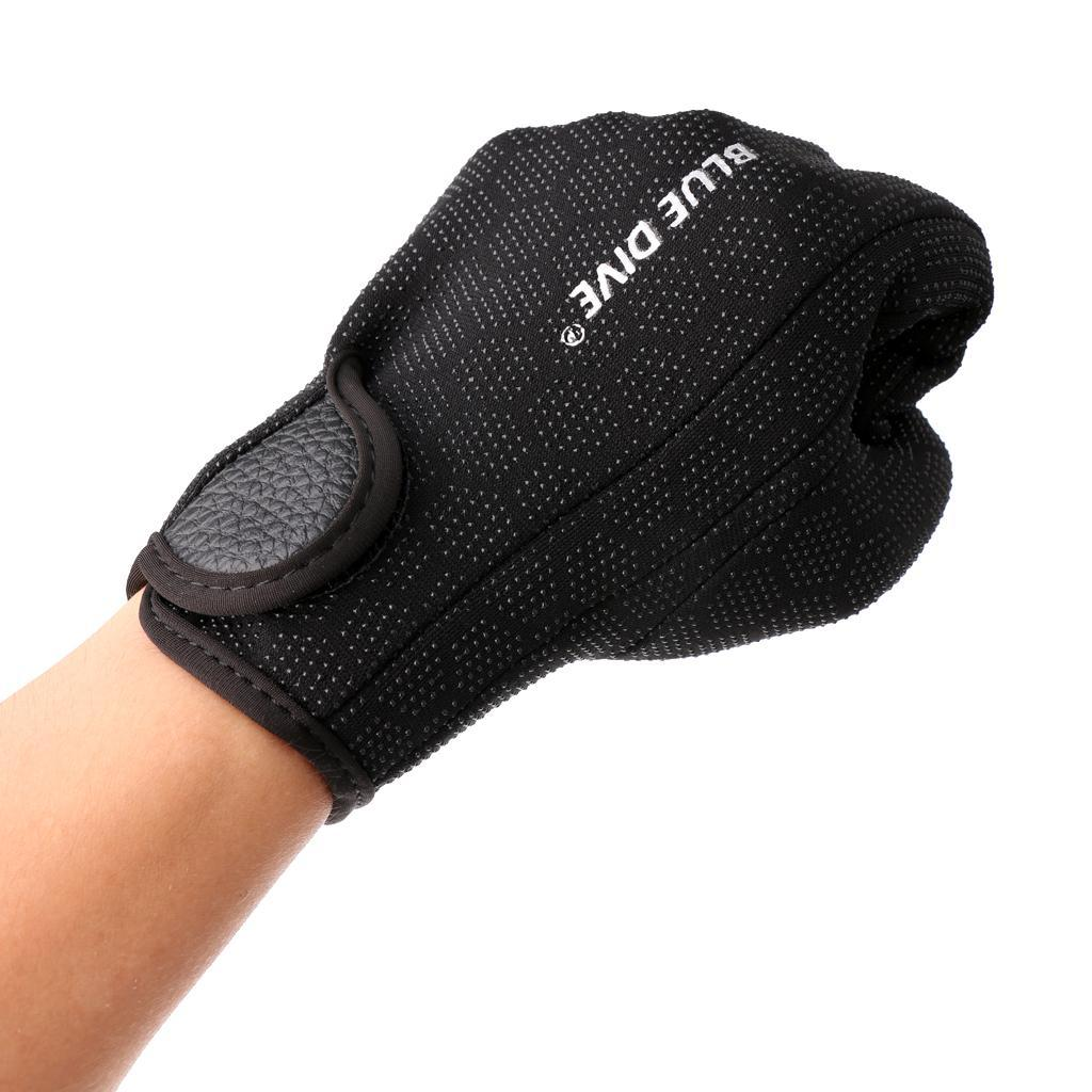 1-paio-1-5-millimetri-Neoprene-antigraffio-antiscivolo-Five-Finger-Glove-per miniatura 4