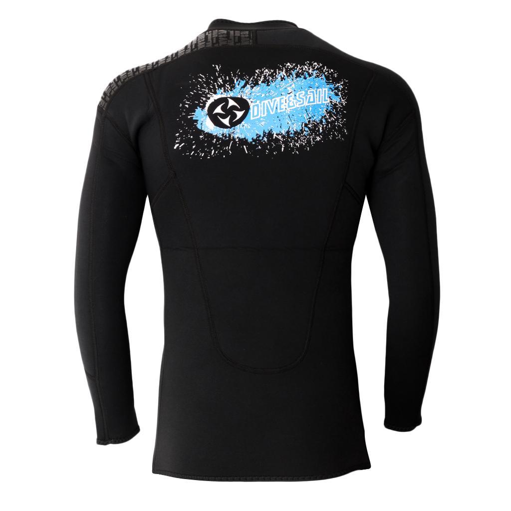 Mens-3mm-Wetsuits-Jacket-Long-Sleeve-Warm-Neoprene-Wetsuits-Top-Surfing-Suit thumbnail 18