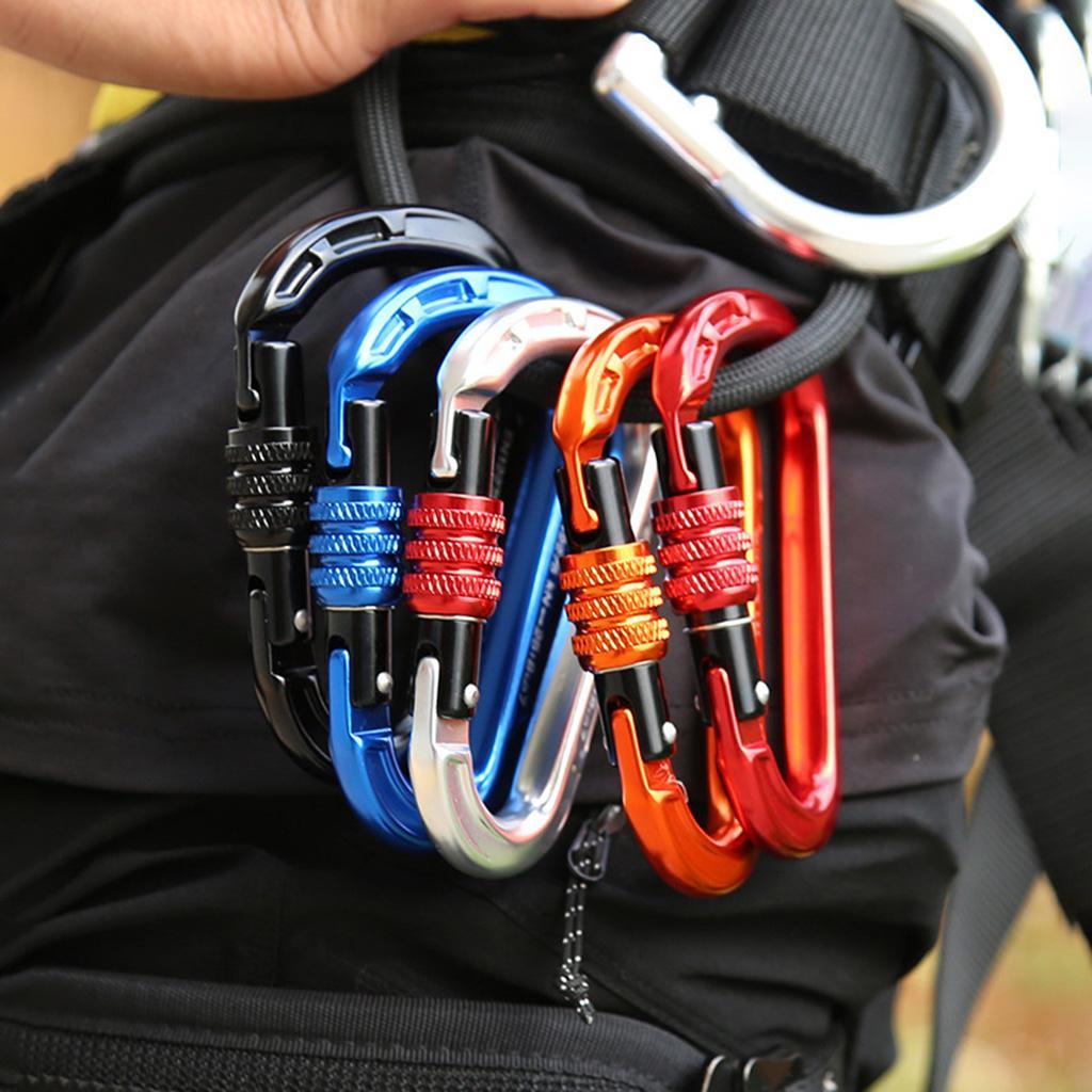 22KN Screw Gate Auto Locking Carabiner Quickdraw for Climbing Equipment