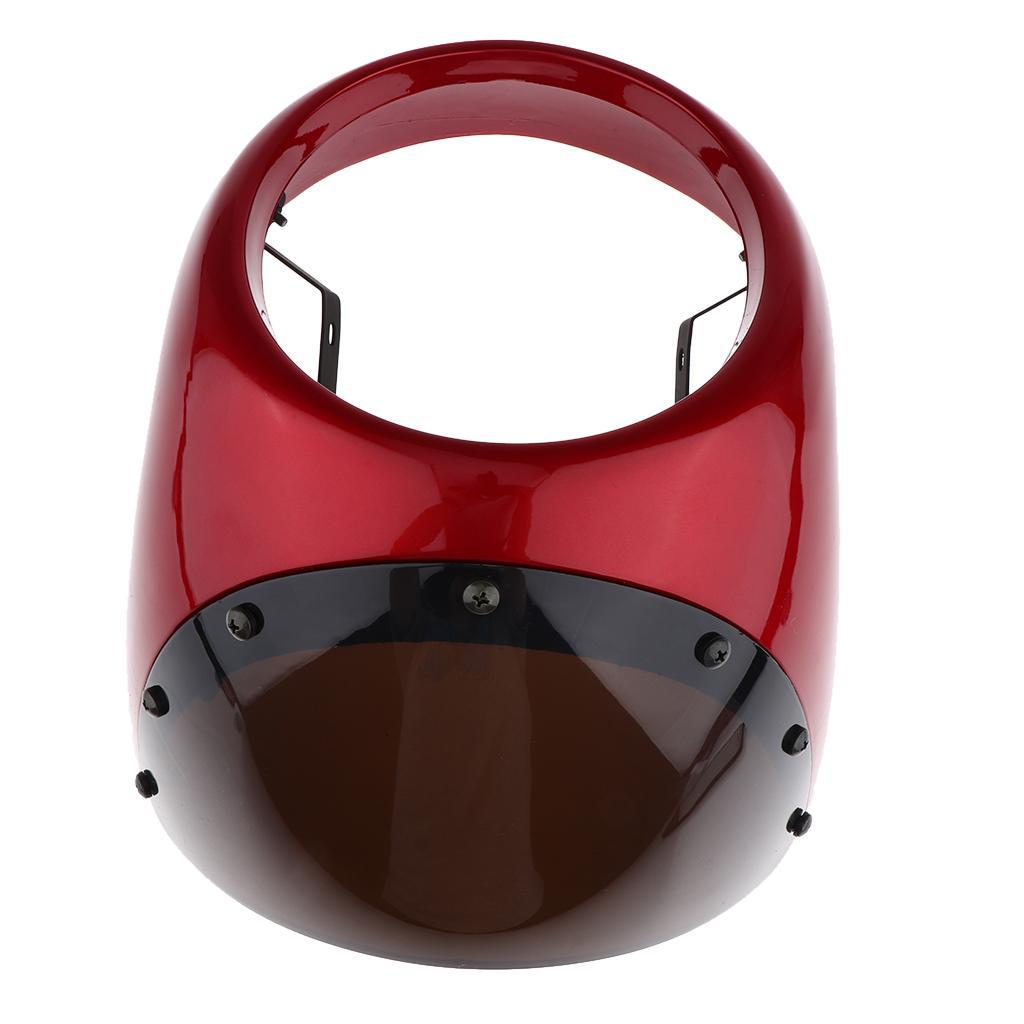 """7/"""" Motorcycle Universal Retro Headlight Fairing Wind Screen Cover Cafe Racer"""