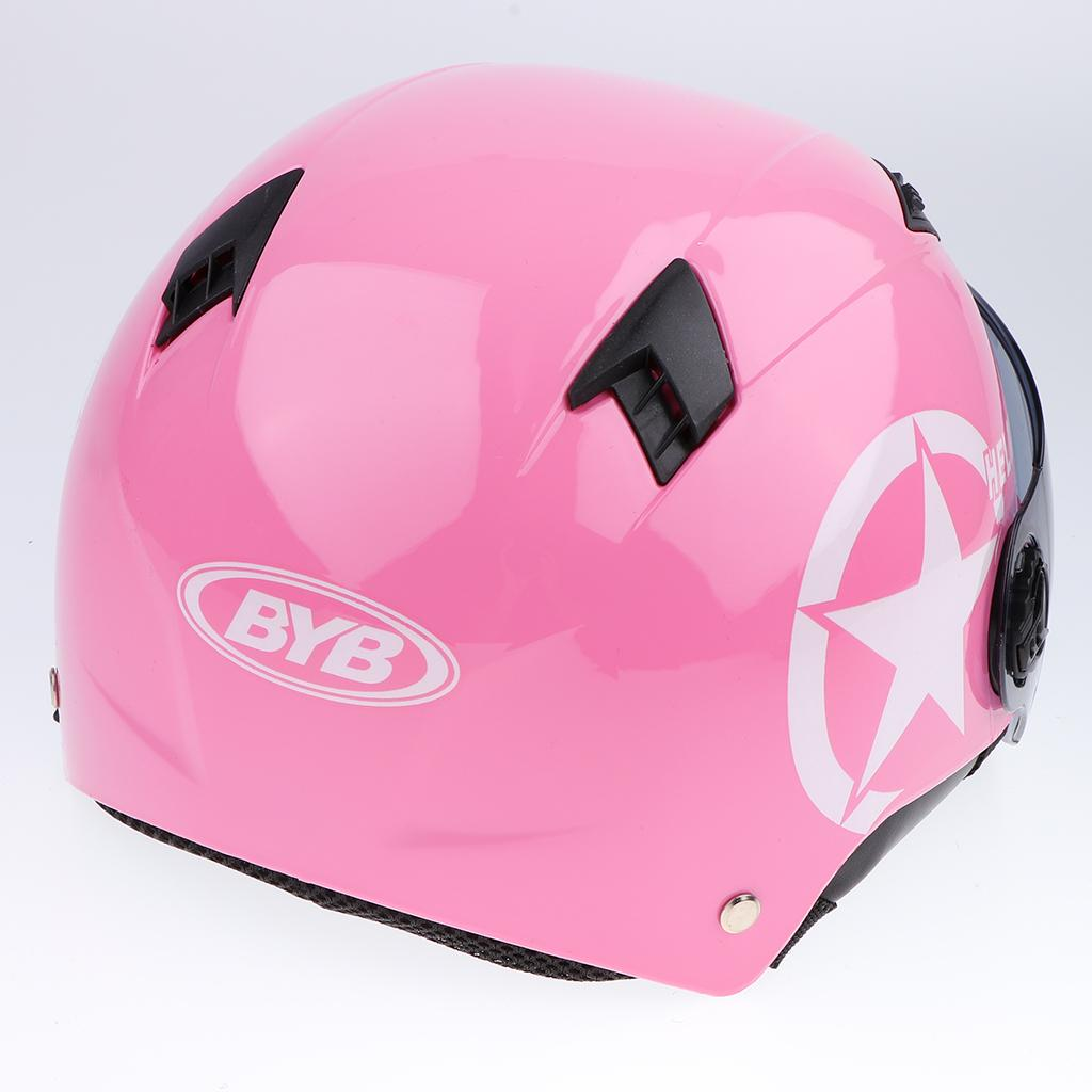 Dismountable Motorcycle Half Helmet with Clear Lens for Safety Fitting
