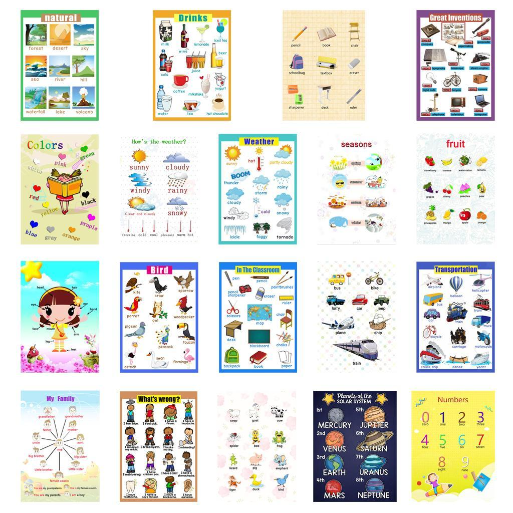 Toddlers-Kids-Fun-Early-Learning-Educational-Posters-Chart-for-Preschoolers thumbnail 4