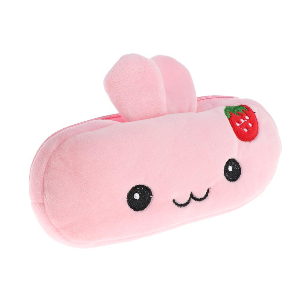 Pencil-Pouch-Plush-Stationery-Bag-Animal-Cosmetic-Bags-School-Supplies thumbnail 31