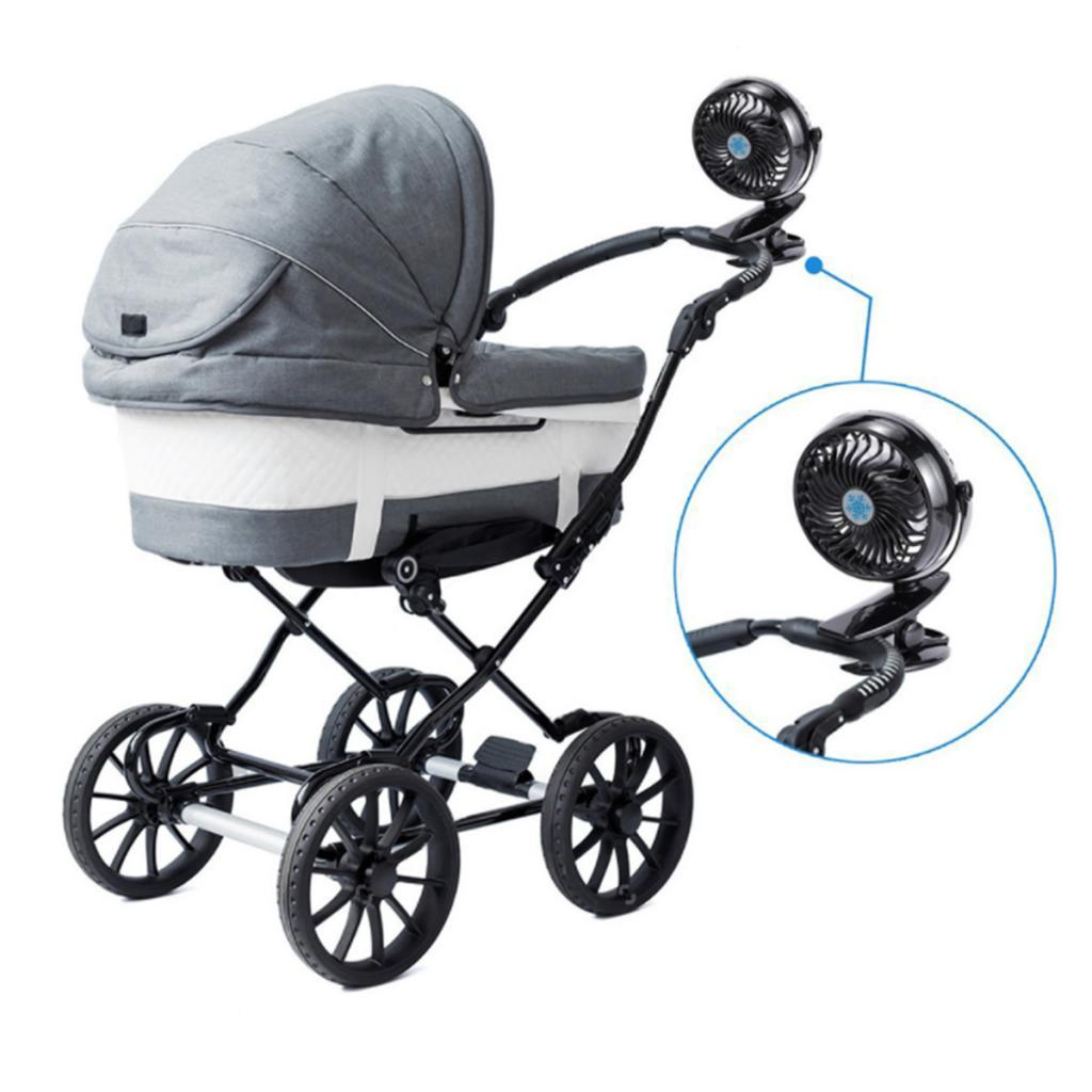 USB-Battery-Operated-Clip-Fan-Mini-Personal-Desk-Stroller-for-Baby-Portable miniatuur 4