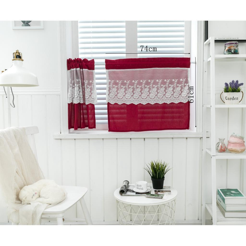 rod pocket kitchen tier curtains small window cafe curtain