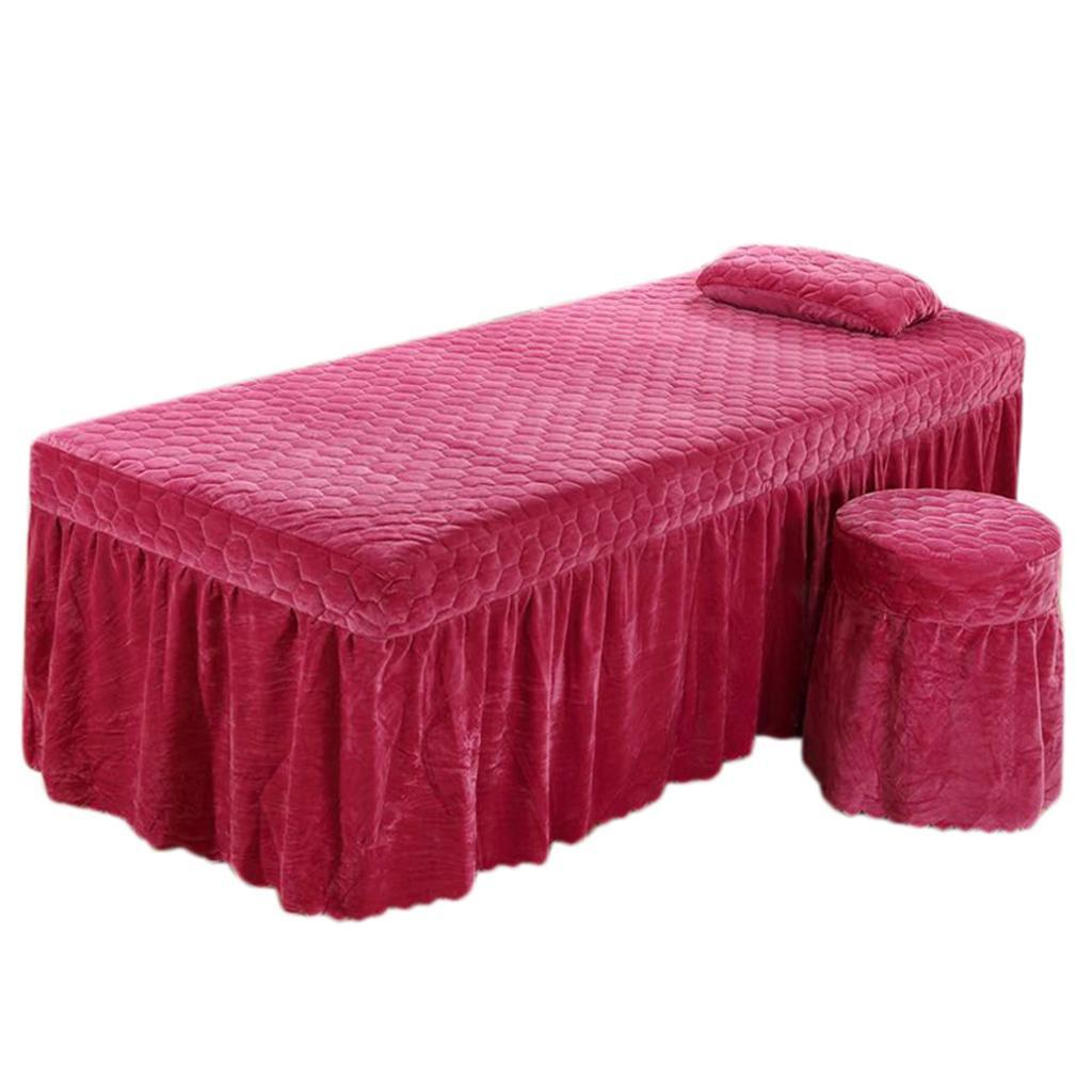 SPA-Massage-Bed-Bedding-Linen-Set-Table-Skirts-Pillow-Case-Stool-Cover thumbnail 3