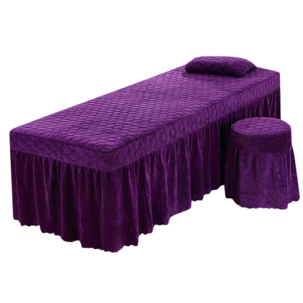 SPA-Massage-Bed-Bedding-Linen-Set-Table-Skirts-Pillow-Case-Stool-Cover thumbnail 30
