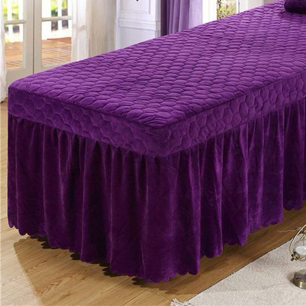 SPA-Massage-Bed-Bedding-Linen-Set-Table-Skirts-Pillow-Case-Stool-Cover thumbnail 31