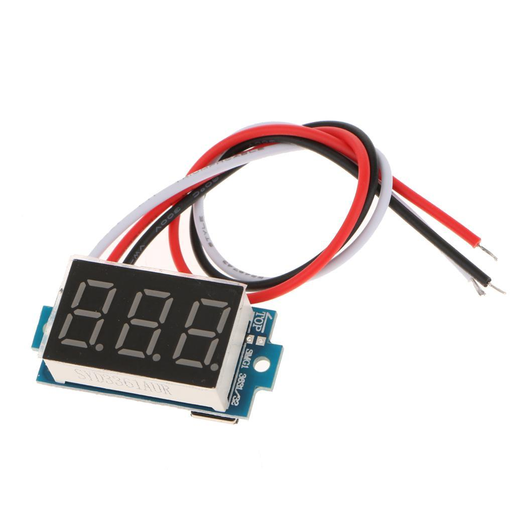1pcs-0-36-034-Display-Volt-Voltage-Panel-Meter-DC3-5-30V-Volt-Gauge-f-Car-Motor thumbnail 4
