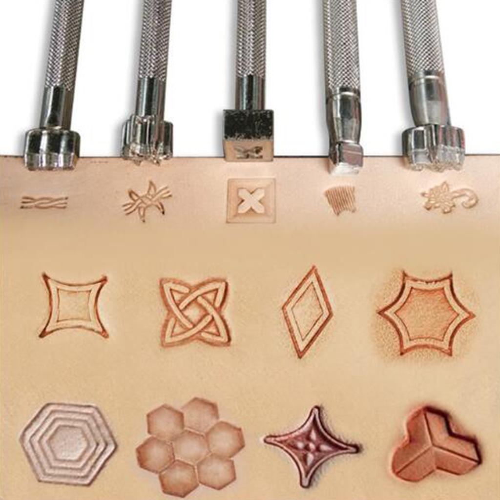 Leder-Punzieren-DIY-Leder-Praegestempel-Punzierstempel-Punziereisen Indexbild 23